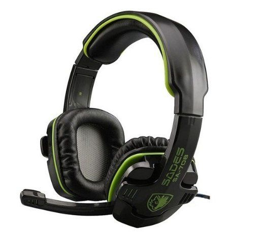 FarCry 5 Gamer  #SADES SA-708 #Stereo #Headset #Gaming #Headset with #Microphone (Green)   Price:     Specification: *Loudhailer diameter: 40mm(NdFeB) *Cable length: 2.2m(approximately) *Frequency range: 20to 20.000 Hz *Sensitivity: 113+/-3dB at 1kHz *Distortion: ¡Ü5%THD *Magnet Size: 15.5*2.0mm *Impedance: 16 Ohm at 1kHz *Input power: 30mW(maximum) *Mic: 6*5mm condenser #microphone *Mic sensitivity: -54+/-3dB *Plug: 3.5mm gold-plated plug *Approximate Weight: 300g/ 0.66lbs