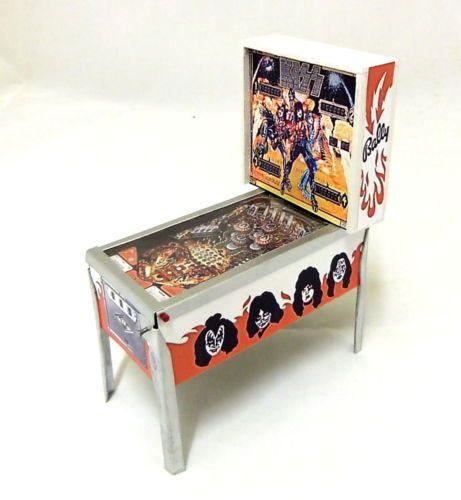 Dolls House Miniature 1 12 Pub Arcade Furniture Classic Kiss Pinball Machine   eBay
