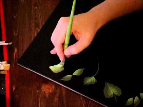 One Stroke Painting - osnovni potezi (listovi)