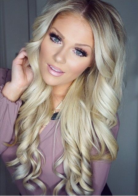 Awesome 25 Best Ideas About Long Blonde Curls On Pinterest Hair Color Short Hairstyles For Black Women Fulllsitofus