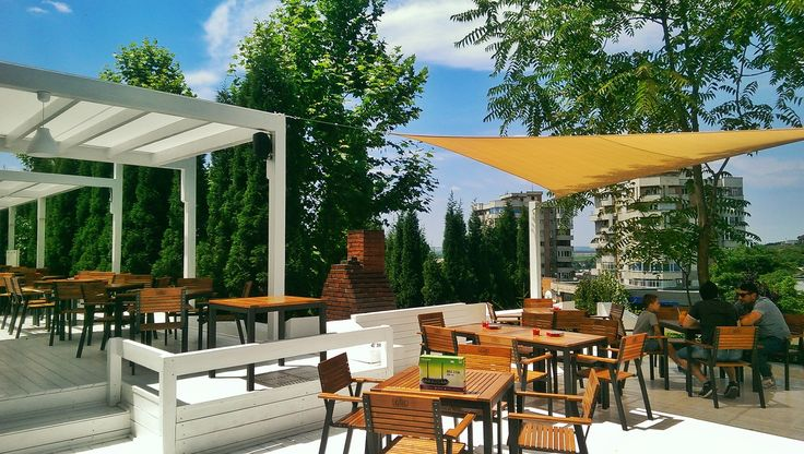shade sails project in Slatina, Romania made by Prestige Blinds #sailshade, #copertinevela, #shadesail, #terrace
