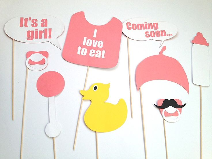 Babyshower meisje photobooth props