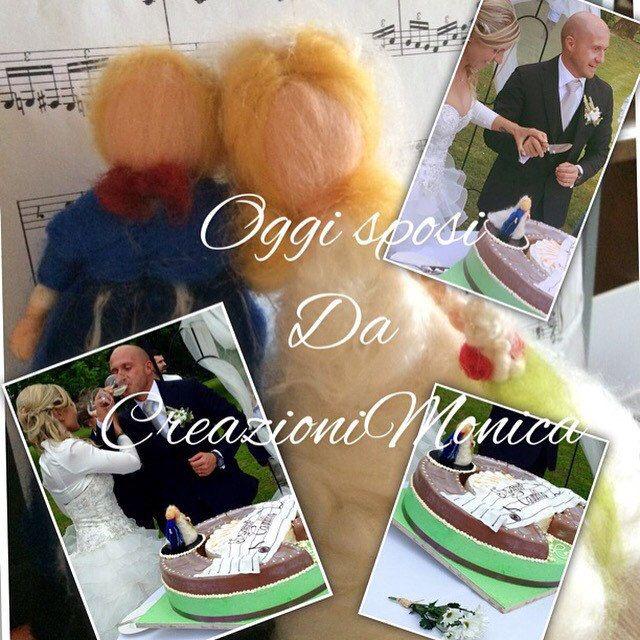 Sopra torta personalizzato per sposi! In stile waldorf! Su ordinazione.