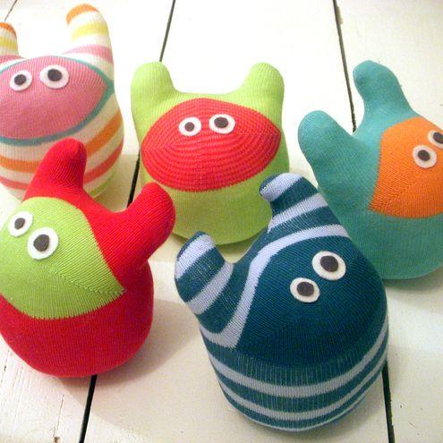 Make your own sock monster kit
