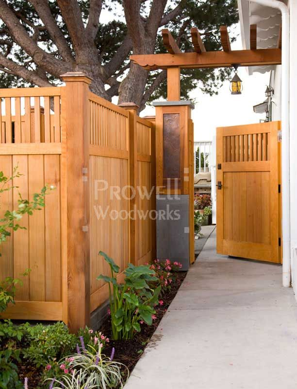 Wood garden gate Linda this fence looks