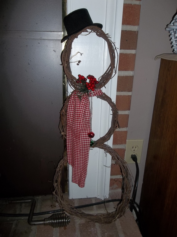 Snowman wreath (my take on another pinners pin)