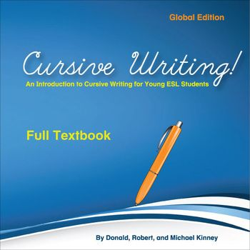 ESL Cursive Writing!-Full Textbook - I love teaching my kids cursive writing! Here are 45 pages of cursive writing worksheets that take students from the basic alphabet to writing larger passages. You'll be able to guide students' hands as they learn the loops and curlicues of the cursive alphabet, how to sign their name, or write a pen pal letter.