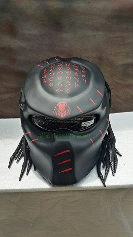 Predator Helmet custom for street fighter Style-DOT Approved by PanjiArtHelmet on Etsy