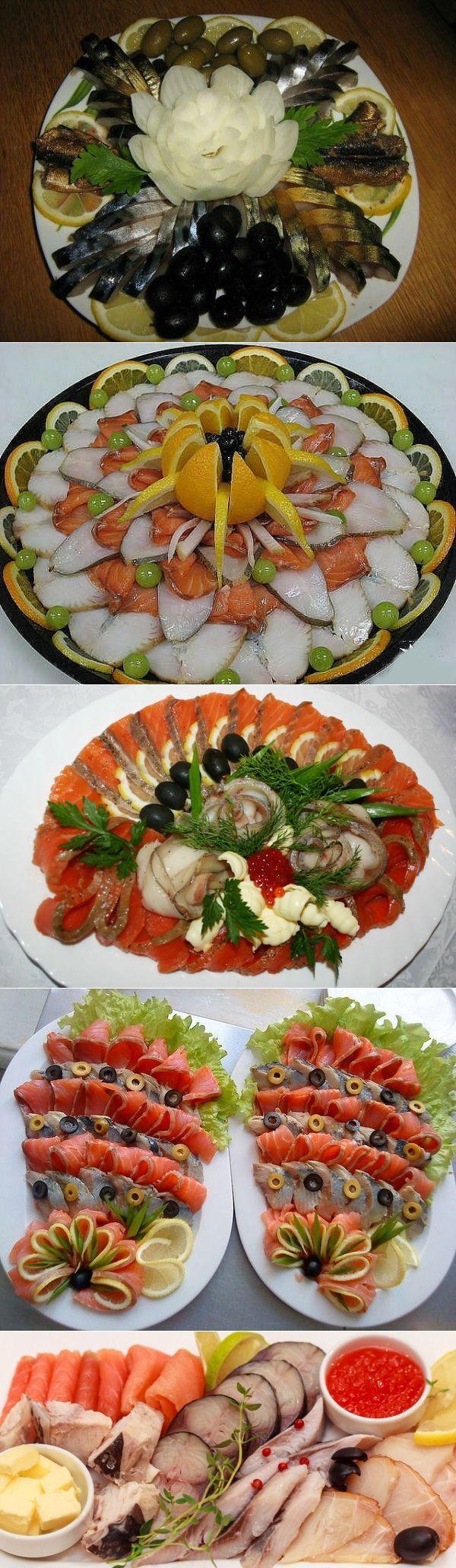 Рыбная нарезка для праздничного стола | карвинг | Постила