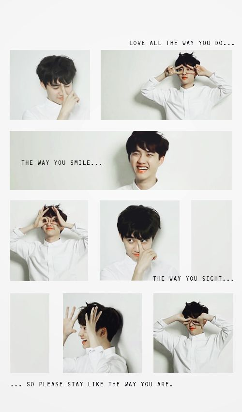 Love all the way you do ♥ #do #kyungsoo #supercute #overloaded