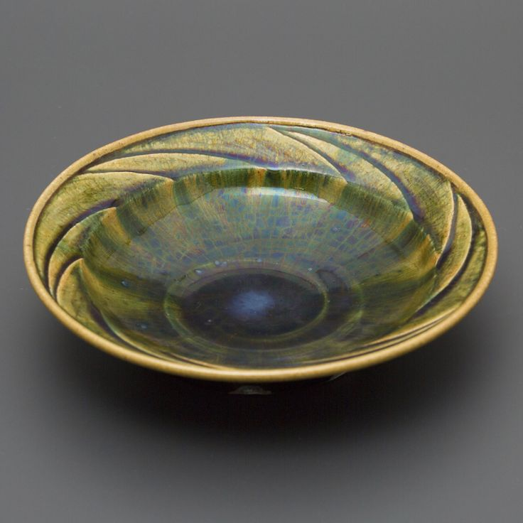 織部刻文鉢 Bowl with engraved, Oribe type 2013