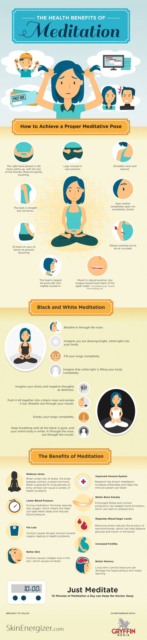 The Health Benefits of Meditation. I need to do this more often