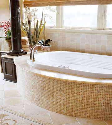 7 Best Garden Tub Tile Images On Pinterest Bathroom