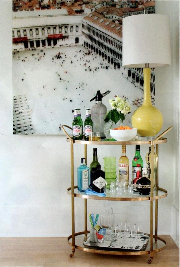 Everyone needs a well-stocked liquor cabinet and a bar cart to show it off.