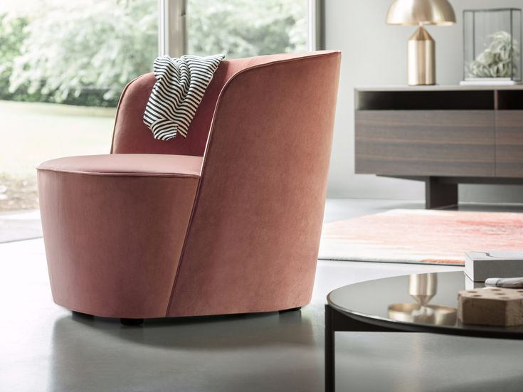 Upholstered fabric armchair FELIX by Lema design Roberto Lazzeroni