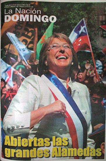 12 de marzo de 2006, con Michelle Bachelet, la primera mujer en llegar a la Presidencia en Chile. La Nación