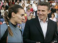 yelena isinbayeva e sergei bubka..ovvero il salto con l'asta fatto persona.. :)