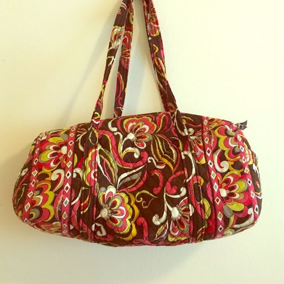 "Vera Bradley duffel bag Fun 70's style pattern! 16"" long and 9"" wide. Vera Bradley Bags Travel Bags"