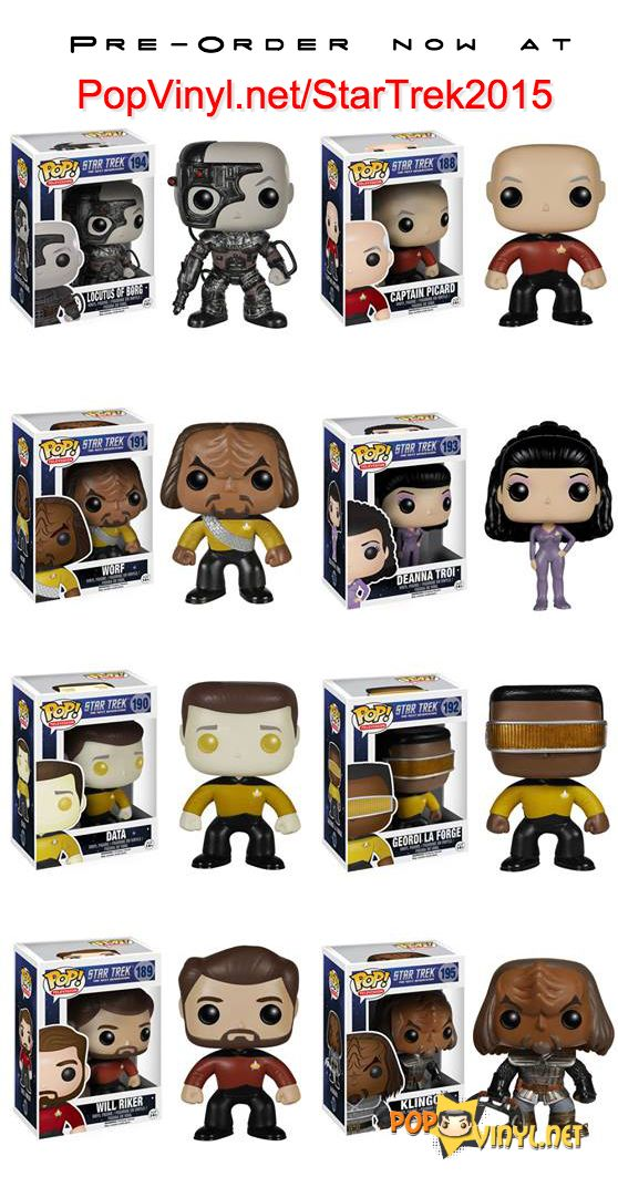 Funko POP Star Trek TNG -- I'd take all for sure, though I kinda don't remember who Deanna Troi is...