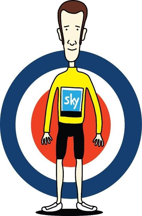 Twitter / Mike_Waters: Great cartoon of Bradley Wiggins #allezwiggo #tdf12