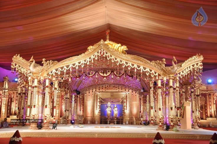 telugu wedding mandap - Google Search                                                                                                                                                                                 More