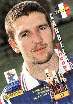 1998 Panini World Cup #17 Vincent Candela  Back