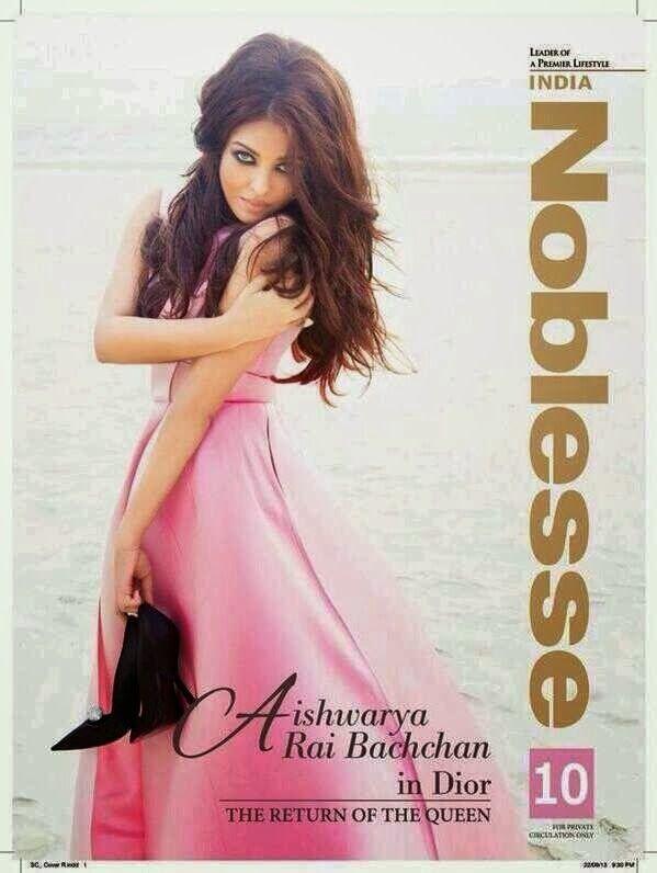 Aishwarya Rai's Nobless Magazine Indian - October 2013 Pictures