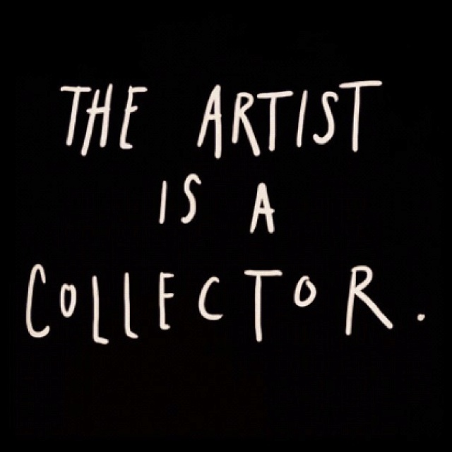 A collector of beautiful inspiration: colors, shapes, thoughts ... What speaks to you? What is in your artist collection?