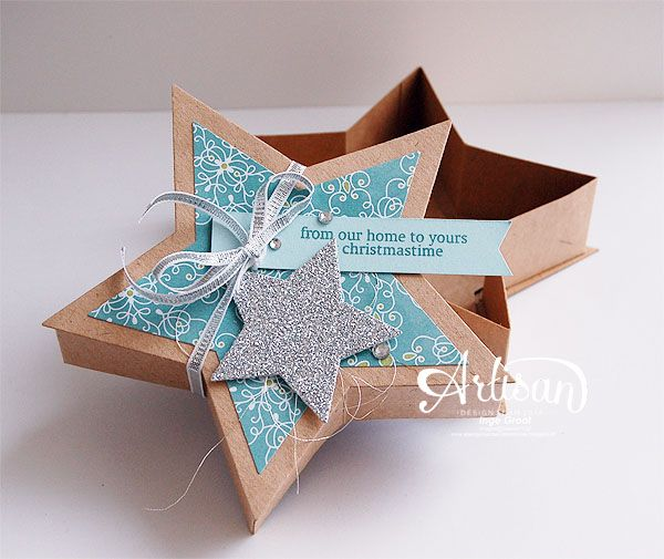 Many Merry Stars Simply Created Kit - bet now you want it! All Is Calm DSP and Silver Glimmer paper.