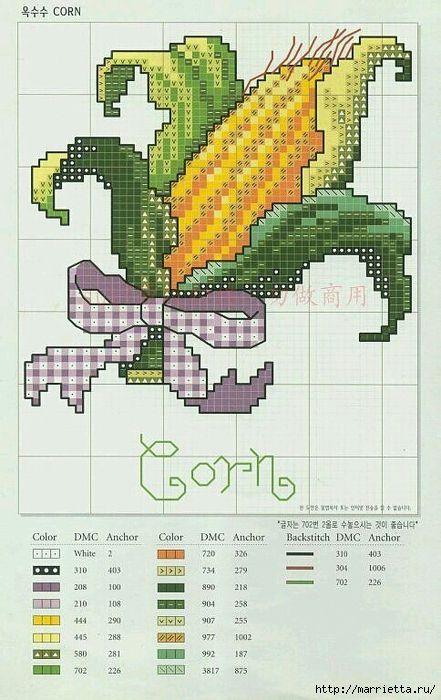 Миниатюрная вышивка. Овощи. Схемы (4) (441x700, 262Kb)