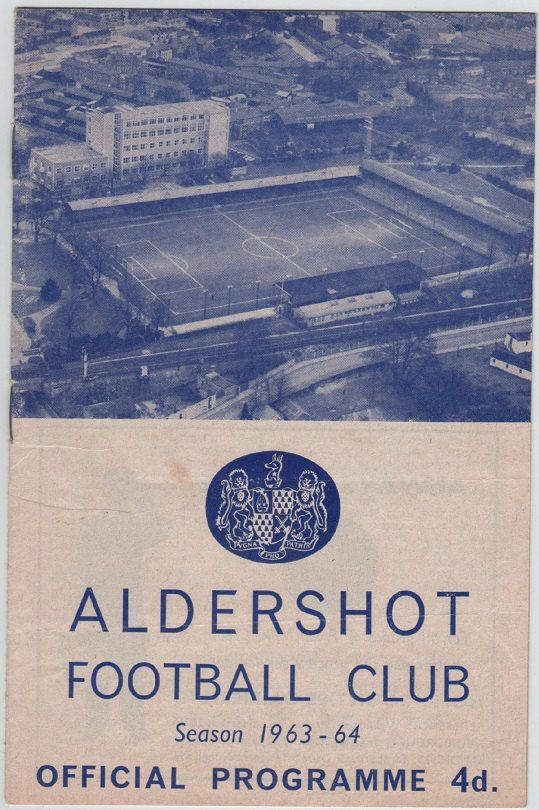 Vintage Football Programme - Aldershot v Torquay United, 1963/64 season, by DakotabooVintage