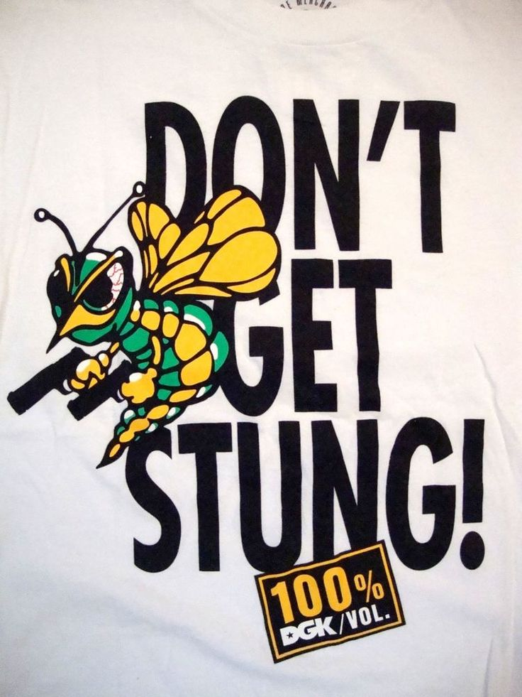 DKG Don't Get Stung 100% Dirty Ghetto Kids Skateboarding Skateboards T Shirt M #TheMayoGroup #GraphicTee