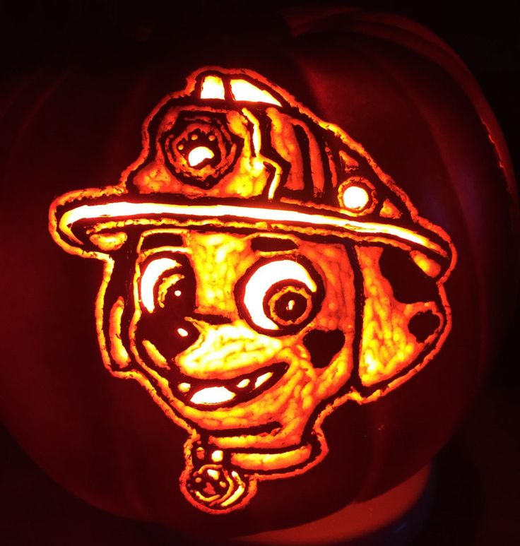 Paw Patrol- Marshall & Rubble 2-sided design 5.5 inch pumpkin by AFoamPumpkinForYou on Etsy