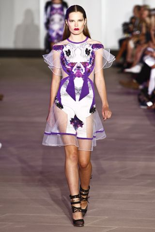 "no way i was reading Elle Magazine the other day and i saw this dress on Selena Gomez and said ""yeah thats Prabal."" Prabal Garung #ss12 #nyfw"