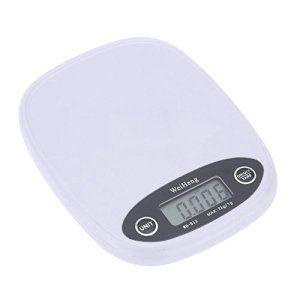 Balance de cuisine Aliments Poids – Weiheng 7 kg / 1g electronique Solde Digital Pocket Cuisine Nourriture Balance Blanc