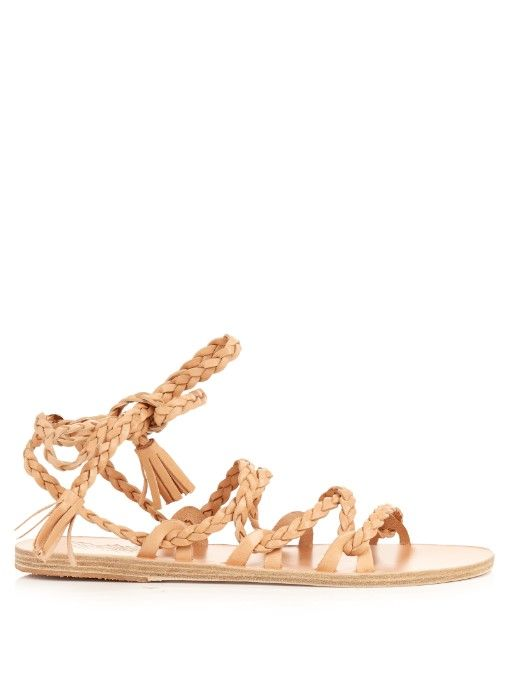 ANCIENT GREEK SANDALS Kariatida Leather Sandals. #ancientgreeksandals #shoes #sandals