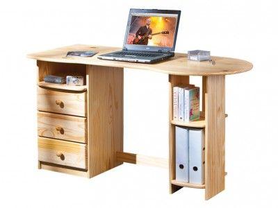 INT-Touchround fiókos fenyő íróasztal