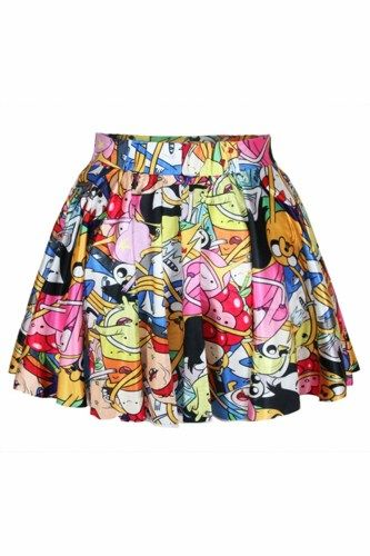 Adventure Time Allover Print Mini Skirt