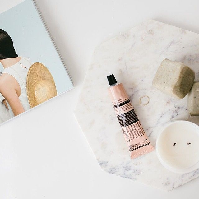 Weekend Essentials // marble basics trivet / atolyia clay soaps / maison balzac candle x Available online: ✌ www.thedepotandco.com.au // #thedepotandco #thingswelove #onlinestore #marblebasics #atolyia #maisonbalzac #kinfolk #aesop #weekend #essentials #sundaystyleloves