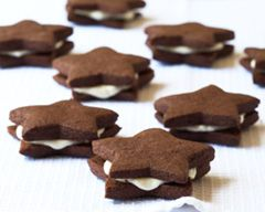 White Chocolate Star Cookies Recipe - Easy Food Recipes - Cakes