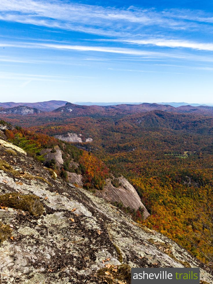Hike the Whiteside Mountain Trail near Highlands, NC to outstanding summit views