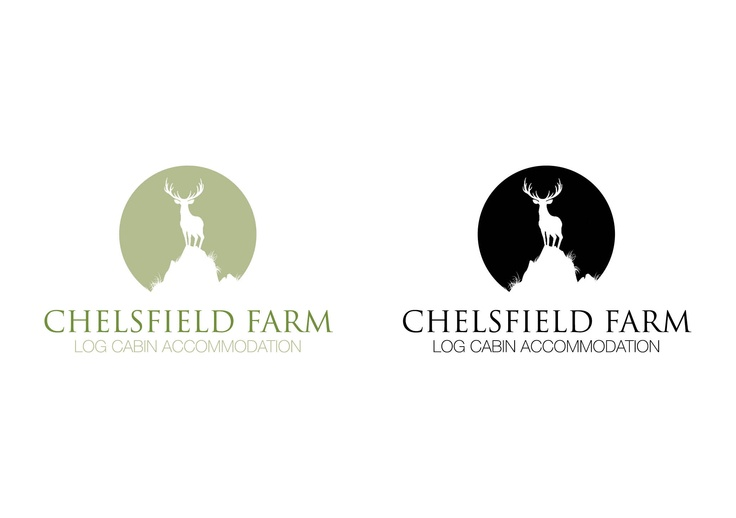Logo Design For Chelsfield Farm Log Cabin Accommodation