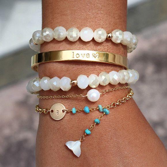 Breloque - Or Guimauve Bracelet En Vida Vida LQsUSW2PRi