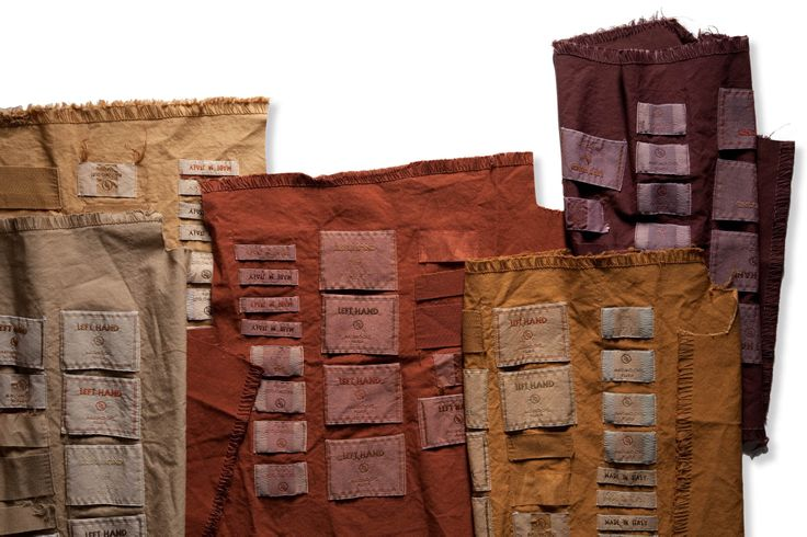 Dyeing tests for label Left Hand