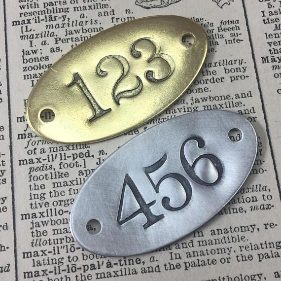 Hand Punched Brass Or Aluminum Numbered Tags Custom Etsy Number Tags Hand Stamped Metal Brass Tags
