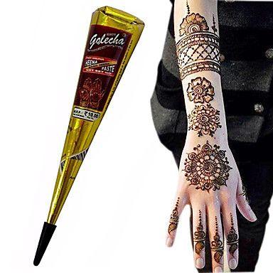 Хэллоуин+черный+цвет+травяные+хной+конусов+временное+тело+татуировки+набор+чернил+искусства+хина+Mehandi+(1шт)+–+RUB+p.+193,38