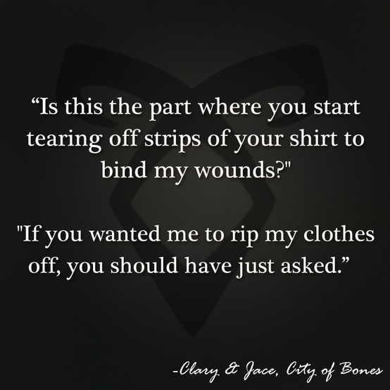 The Mortal Instruments: City of Bones | Book Series by Cassandra Clare | #quotes | Clary and Jace