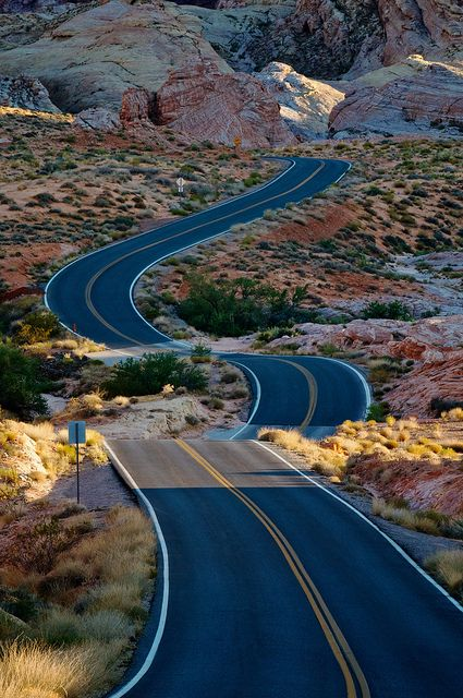 Ribbon of Adventure ~ Valley of Fire State Park, Nevada
