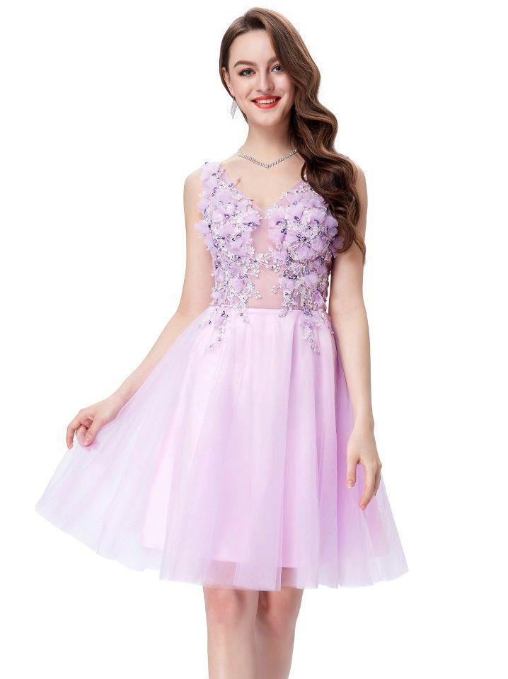 Rochie lila cu corset transparent RK09