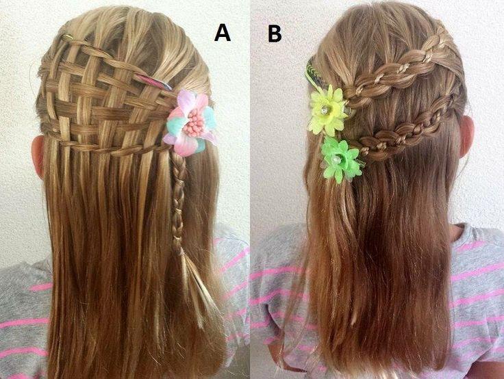 un estilo en dos opciones de peinado para nias